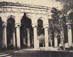 Facade of the western side of the quadrangle [of the Palace, Madurai]